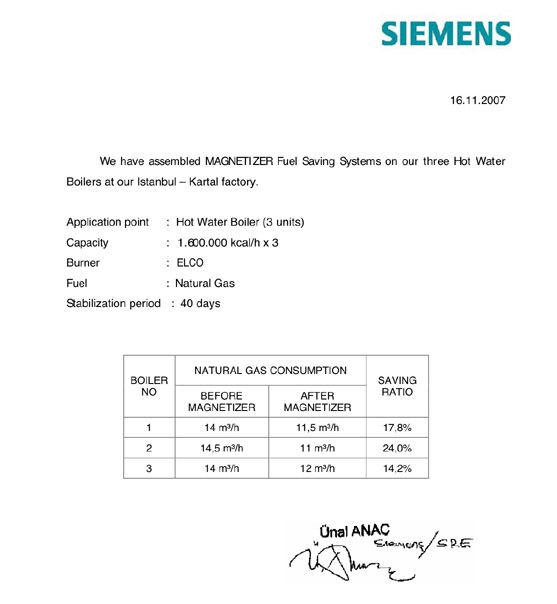 Siemens Magnetizer Testimonial